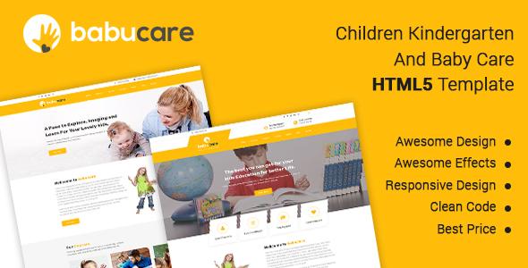 Babucare - Children Kindergarten And Baby Care HTML Template - Children Retail