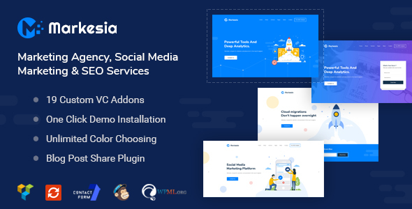 Image of Markesia - Digital Marketing Agency and SEO WordPress Theme