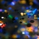 Defocused Shimmering Multicolored Glitter Confetti, Black Background. Holiday Abstract Festive Bokeh - VideoHive Item for Sale