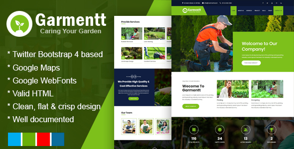 Image of Garmentt - Gardening and Landscaping Bootstrap4 Responsive Template