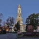 The Bell Tower of the Assumption Cathedral Uspenskiy Sobor Day To Night  Hyperlapse in Kharki - VideoHive Item for Sale