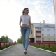 Beautiful Young Woman Walking on the Street - VideoHive Item for Sale