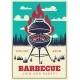 Vintage BBQ Grill Party Poster