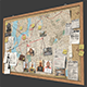 Detective Pinboard - 3DOcean Item for Sale