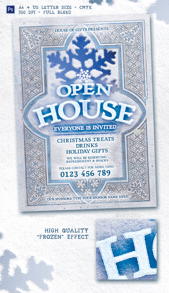 Holiday Open House Flyer Template By Emty Graphicriver
