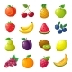 Cartoon Fruits and Berries - GraphicRiver Item for Sale