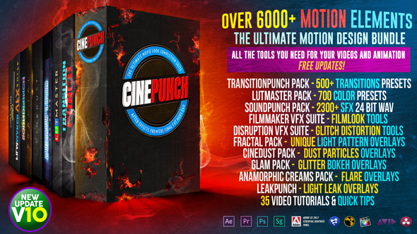 Free download - CINEPUNCH V10 - 6000+ Elements and Growing! - 20601772 (hàng sắp về)