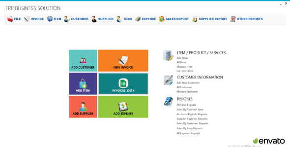 ERP Business Solution C# Project With Source Code            Nulled