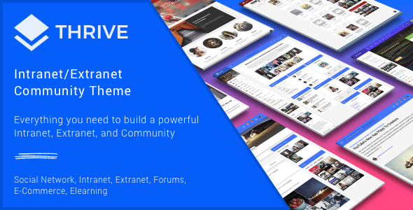 Thrive - Intranet & Community WordPress Theme - BuddyPress WordPress