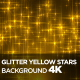 Glitter Yellow Stars Background 4K - VideoHive Item for Sale