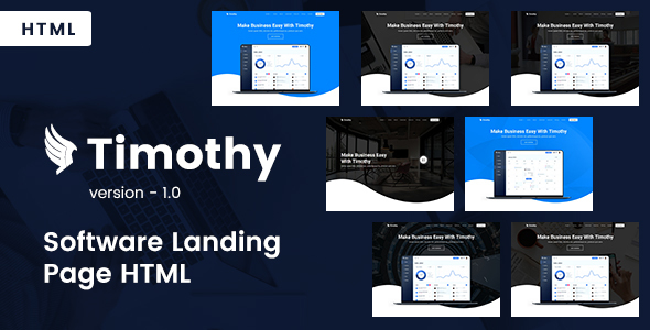Timothy - Software Landing Page HTML