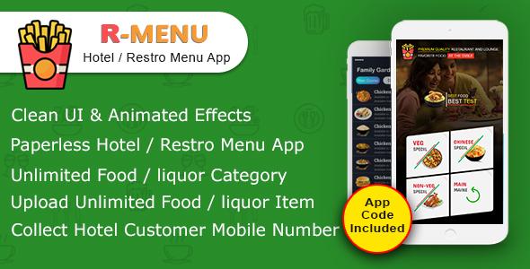 R-MENU ( Hotel / Restro Mobile Menu App)            Nulled