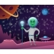 Space Background with Character of Alien - GraphicRiver Item for Sale