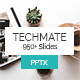 Techmate StartUp PowerPoint Template - GraphicRiver Item for Sale