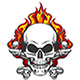 Skull in Flame - GraphicRiver Item for Sale