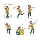 Characters of Hunters Vector Cartoon