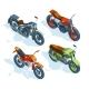 Sport Bikes Isometric