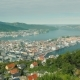 Beautiful City of Bergen in Norway, View From the Upcoming Wagon Train Car - VideoHive Item for Sale