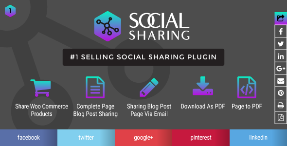 Wordpress social sharing and print page post to pdf plugin            Nulled
