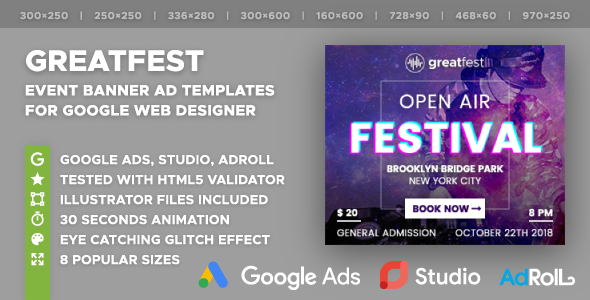 Greatfest - Event Banner Ad Templates (GWD) - CodeCanyon Item for Sale