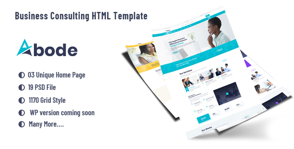 ABODE - Consulting, Finance, Business  HTML5 Template