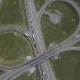 Aerial Shot of City Road Traffic Over Big Crossroad - VideoHive Item for Sale