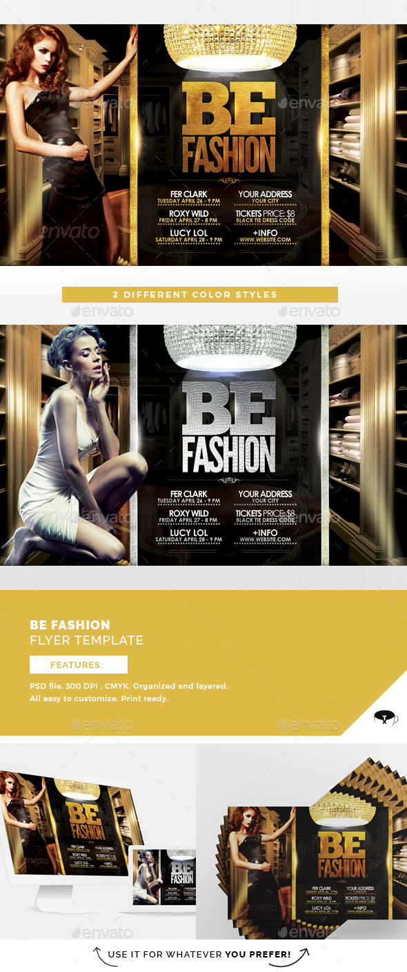 be fashion flyer template events flyers - Fashion Brochure Template