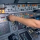 Indicators of an Aircraft Console Are Getting Switched on and Off By a Pilot - VideoHive Item for Sale