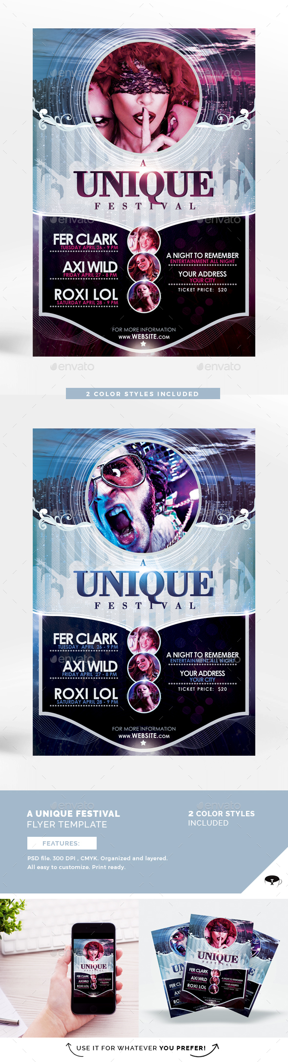 A Unique Festival Flyer Template - Clubs & Parties Events