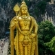 Lord Murugan Hindu Deity Statue at Batu Caves and Tourist Flow in Malaysia - VideoHive Item for Sale