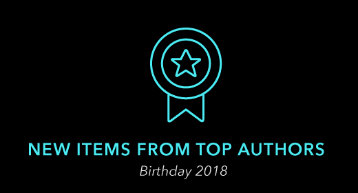 New Items from Top Authors - Bday 2018