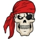 Cartoon Pirate Skull - GraphicRiver Item for Sale