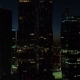 A Night Aerial Shot of Skyscrapers of Moscow International Business Centre. - VideoHive Item for Sale