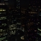 A Night Aerial Shot of Skyscrapers of Moscow International Business Centre - VideoHive Item for Sale