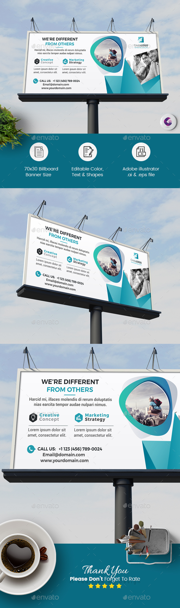 Billboard Template - Corporate Brochures