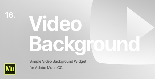 16 | Video Background Widget for Adobe Muse CC            Nulled