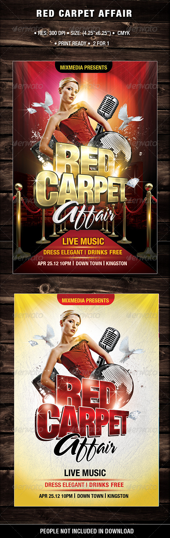 Red Carpet Affair - Flyers Print Templates