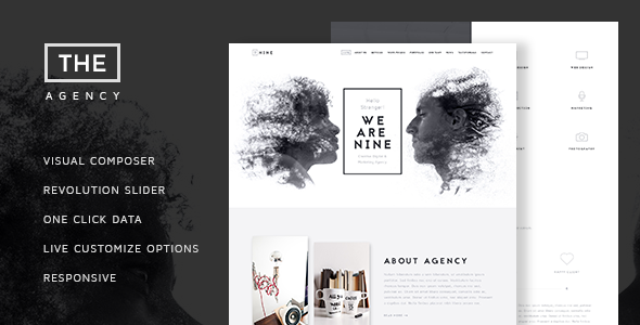 The Agency - Creative One Page Agency Theme - Creative WordPress