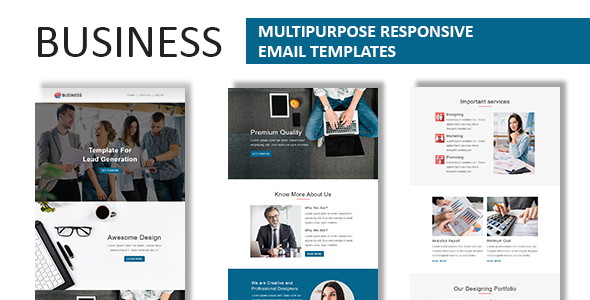 Business - Multipurpose Responsive Email Template with Online StampReady Builder Access