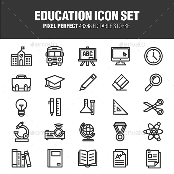 Education Icon Set - Business Icons