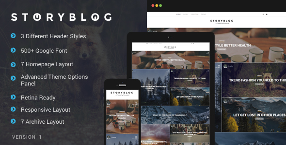StoryBlog - WordPress Theme for Story Tellers