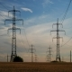 Electricity Pylons and the Evening Sky - VideoHive Item for Sale