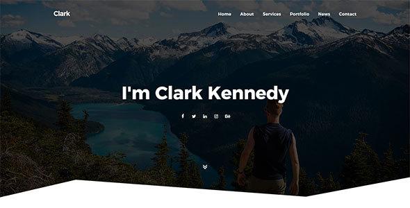 Image of Clark - Personal Portfolio Template