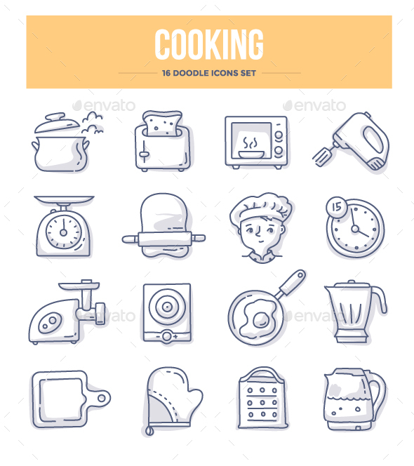 Cooking Doodle Icons - Objects Icons