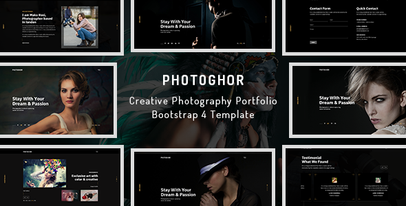 Image of Photoghor - Photography Portfolio Bootstrap 4 Template