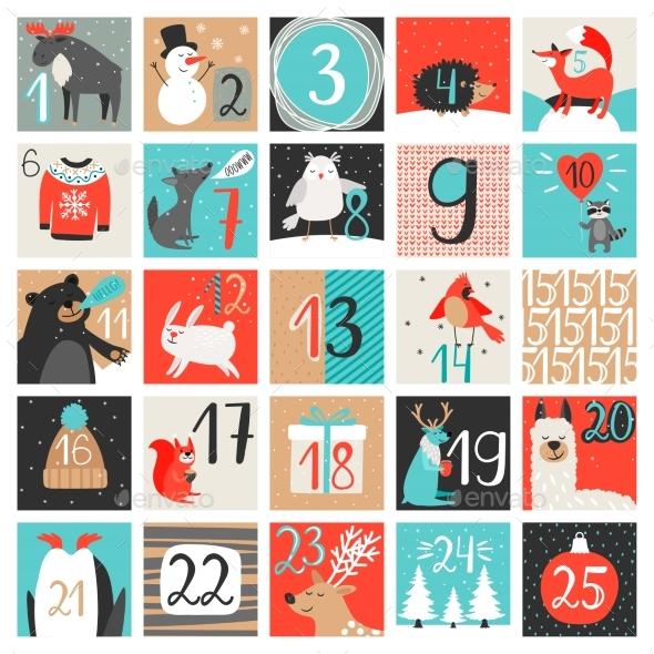 Advent Calendar December Countdown - Christmas Seasons/Holidays