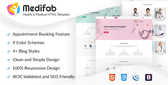 Image of Medifab - Health & Medical HTML Template