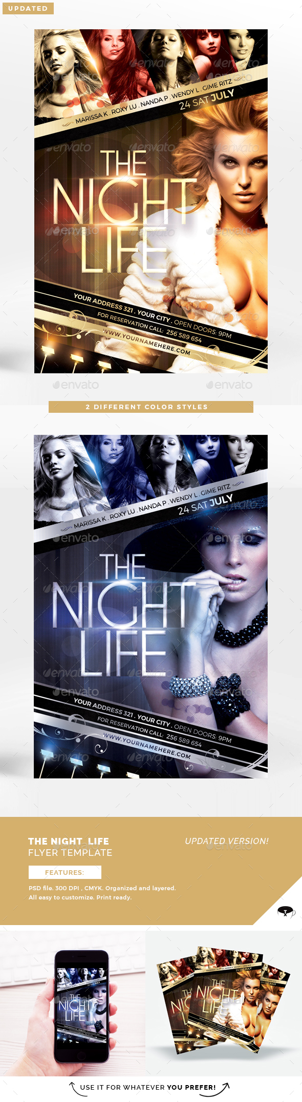 The Night Life Flyer Template - Flyers Print Templates