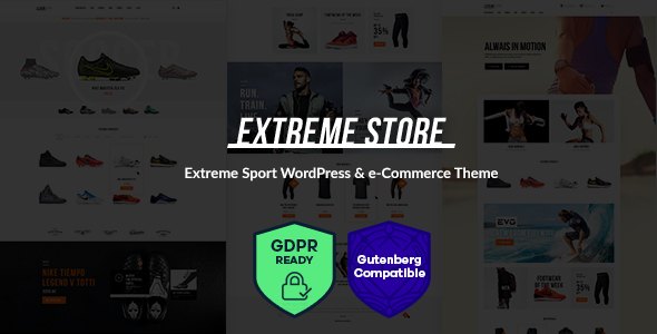Extreme | Sports Clothing & Equipment Store WordPress Theme