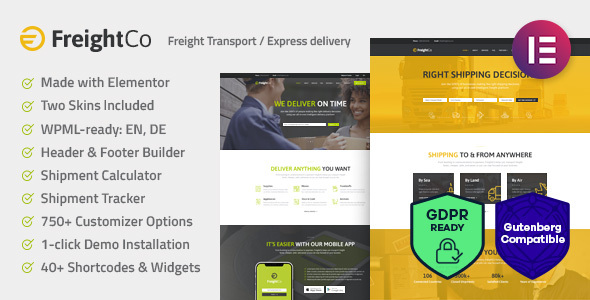 Image of FreightCo | Transportation & Warehousing WordPress Theme
